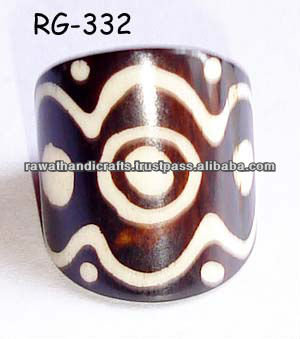 Rawat Handicrafts Indian Camel Bone ring jewelry Fashion costume imitation artificial Indian Handmade