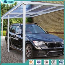 Single Custom Color Outdoor Metal Aluminum Carport Gutters Car Canopy