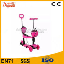 front 2 wheel scooter, 5 in 1 scooter, Push kids scooter with seat for children