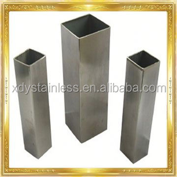 stainless steel pipe welded stainles steel square hollow structure pipe with 3mm wall in grade 316 316L 304 201 430 202