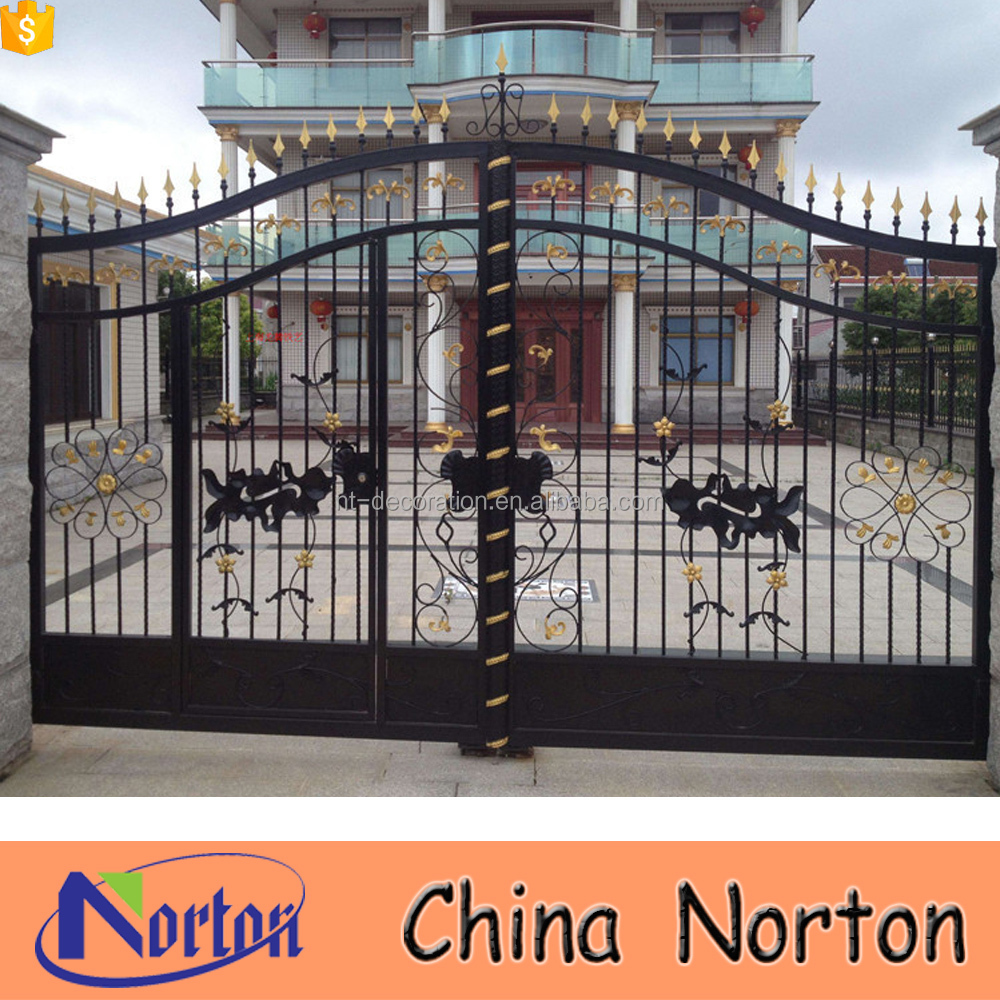 House decor simple sliding door wrought iron gate design NTIRG-259A