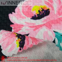 Digital printed polyester and spandex custom jacquard fabric