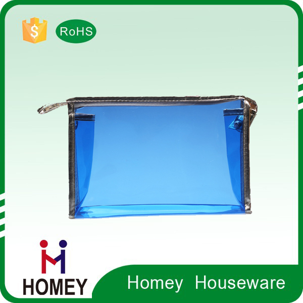 OEM high quality Clear PVC zipper cosmetic bag , cosmetic make up pvc bag with zipper, toiletry bag