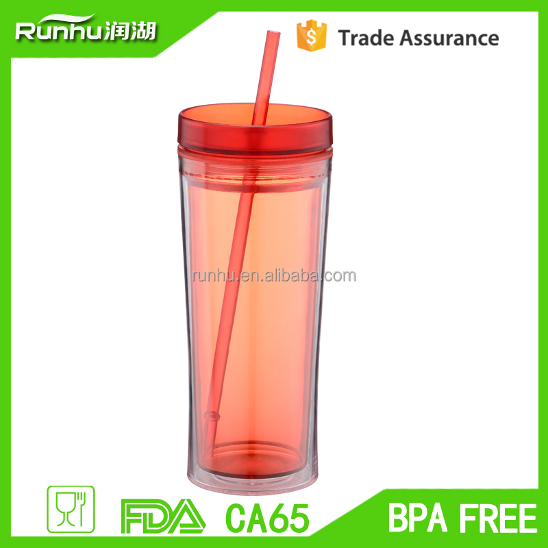 16 oz Double wall Vacuum cups/tumbler W/ Straws sample free