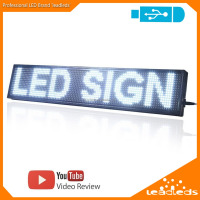 Alibaba Wholesale Scrolling Message USB Control Muti Color LED Light Business Sign