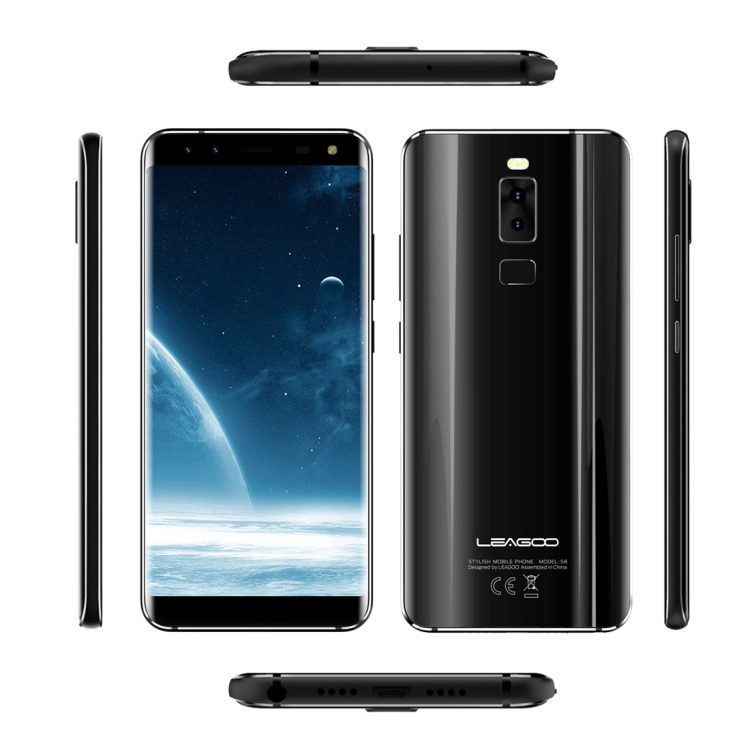 Online Shopping Original LEAGOO S8 Mobile <strong>Phone</strong> 3GB+32GB 5.72 inch Dual Curved Edge LEAGOO OS 4.0 (Android 7.0) 4G Smart <strong>Phone</strong>