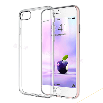 Camera Protecting Transparent TPU Case Cover For Iphone 7, Gel Clear TPU Cover Case For Iphone 7 Plus Transparent