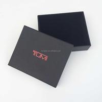 custom black box with hot stamping Logo for wallet