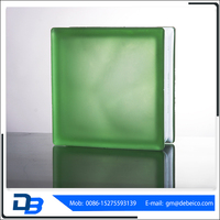 Clear factory price flat fire proof decorative diamond wall glass block