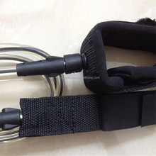 "6""7""8""9""10"" SURFBOARD LEASH with Velcro Strap, SUP ankle LEASH, LEG ROPE Extends to a maximum of 10 feet."