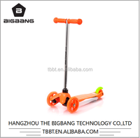 HANGZHOU THE BIGBANG factory price 3 wheel pu flashing Aluminum mini kids scooter cheap sale