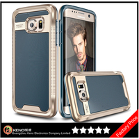 Keno 2016 New Arrival Factory Price PC+TPU Hard Back Dot View Cover For Samsung Galaxy S7 Edge Case