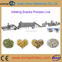 Double Screw Extruded Grain Corn Puffing Snack Making Machine