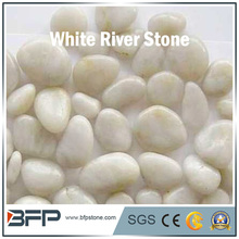 White pebble stone as interior and exterior decoration