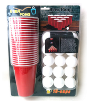red beer pong cups, Beer Pong Cup with Ping Pong Ball