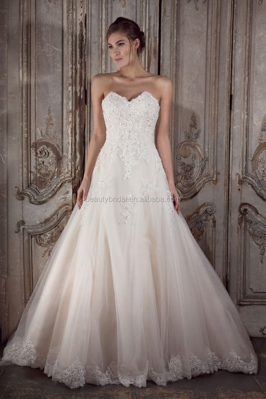 Factory outlet beaded strap wedding dress vestido de novia 2016