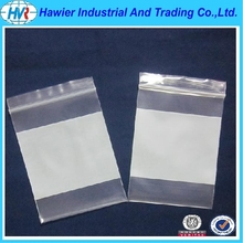 "polythene grip seal bags with ""write on"" panel"