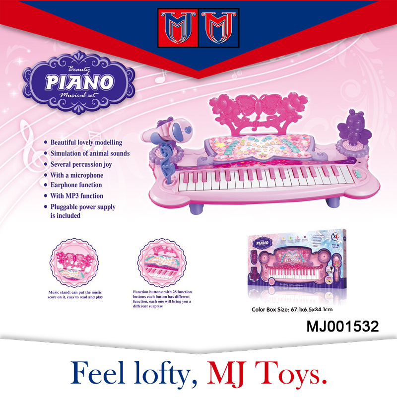 factory price 37 keyboards electronic organ baby musical toy with colorful lights
