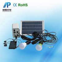 home solar electricity generation system for home lighting appliances