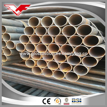 High quality ASTM A53 ERW carbon black welded steel pipe
