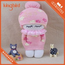 New product pink handmade sock dolls in china market