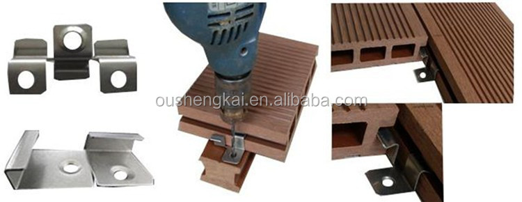 wood plastic composite outdoor garden decking