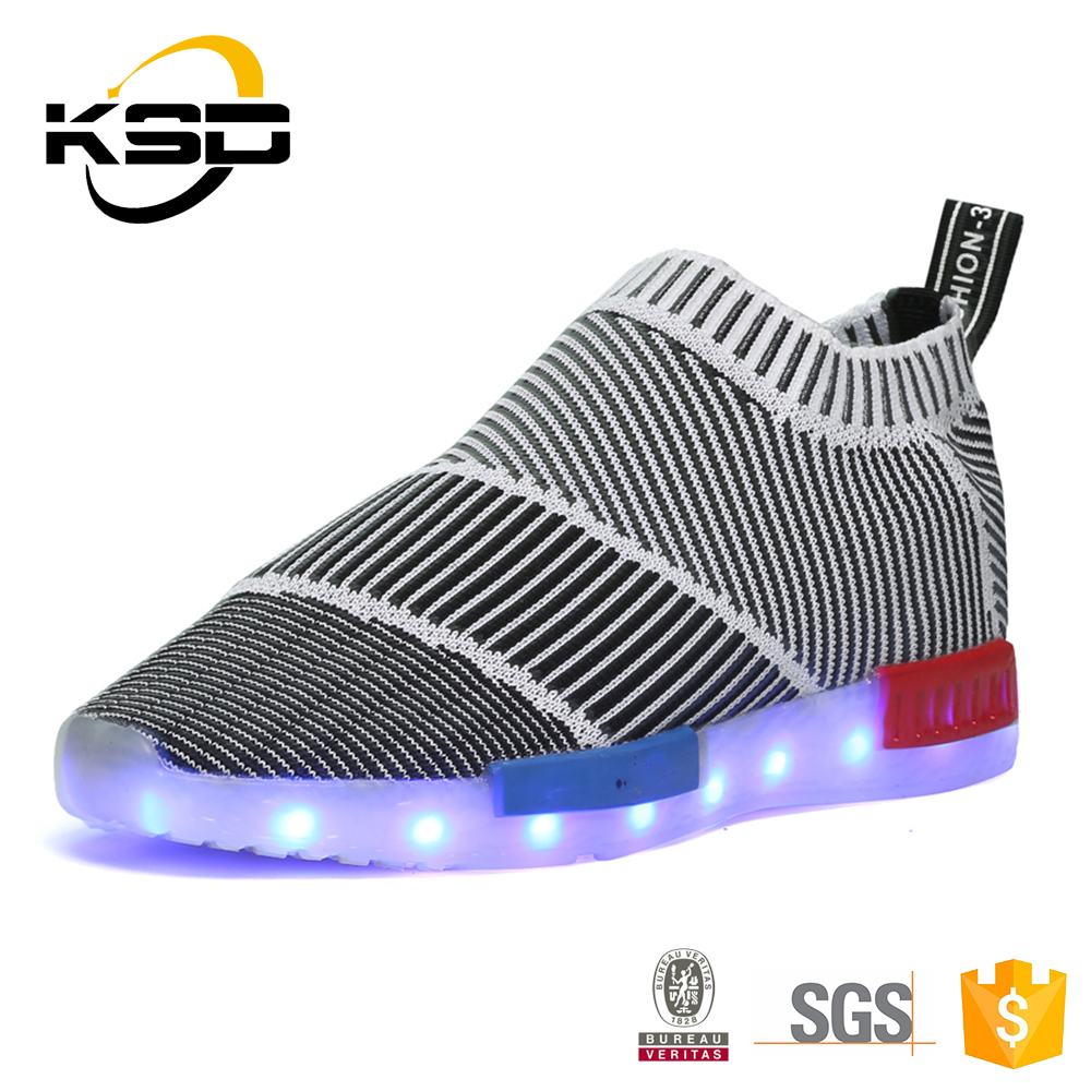Rechargeable Led Light Flat Women Ladies Sneakers Shoes 2016