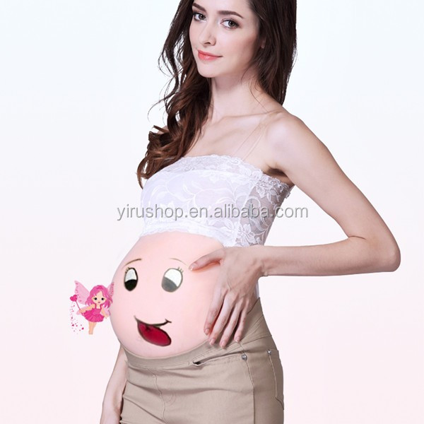 Free Shipping Silicone Pregnant Belly Real Big Fake Tummy for False Pregnancy Wholesale 4600g/pc