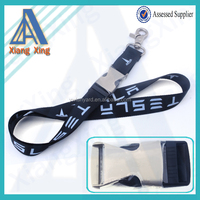 2016 Promotional woven logo lanyard with metal buckle