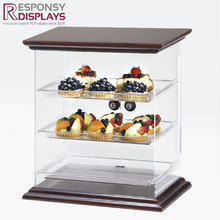 Cake shop 3 tier acrylic cake display case