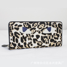 Sexy Leopard handle evening bag for women,fancy trendy ladies clutch purse elegance Long Wallet Brand ZZ.