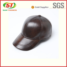 Stylish Custom Unique Design Mens Blank Leather Baseball Cap