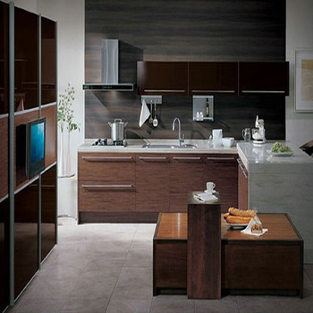 Guangzhou Zhihua Easy to Assemble UV and Melamine Modular Kitchen Cabinet