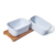 New Shape white  Deep Enamel Butter Dish with wood Lid