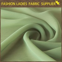2015 shaoxing wholesale thin light solid 100D chiffon fabric