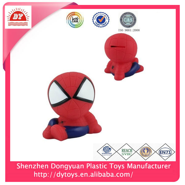 2017 Perfect Gift Promotional 3D Spiderman Plastic Money Box