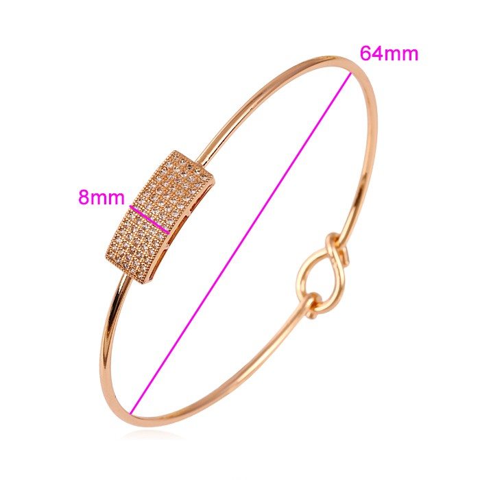 50630 xuping jewelry rose gold color jewels good-looking design bangle for women