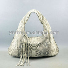 Exotic skin lady Hobo bag, python handbags, python purse