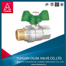 China manufacture brass valve male and female thread butterfly handle brass ball valves