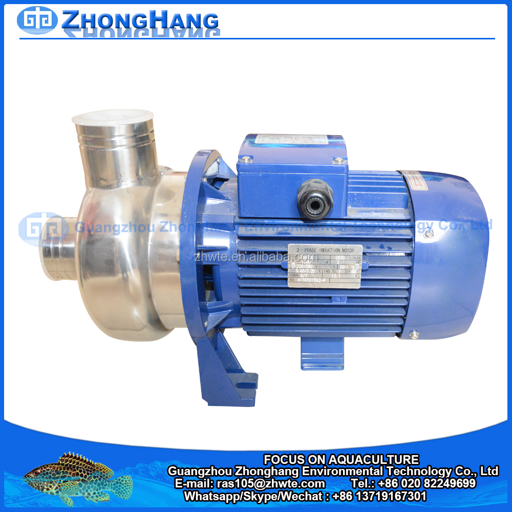 Stainless Steel Material Sea Water Pump For Aquaculture System