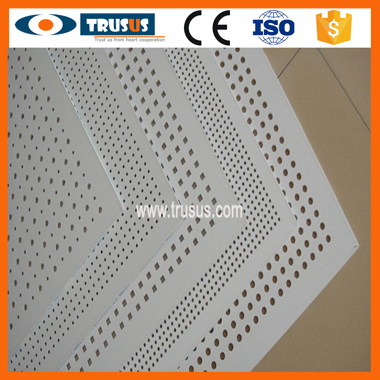 2016 Hot Sale Decorative Drywall Acoustic Perforated Gypsum Ceiling Board