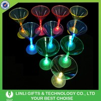 Promotional Bar Flashing Martini Glass, Led Martini Glass, Light Up Martini Glass