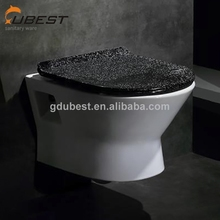 Factory production black wall mounted toilet rectangular ceramic p-trap back to wall toilet colorful toilets made in China