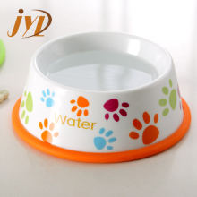 Best quality super white porcelain slow feed dog bowl