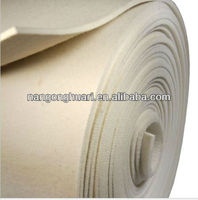 industrial white wool felt