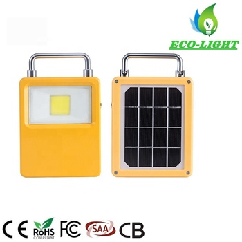 2019 new style IP65 portable LED work lights 10W COB solar flood light for camping