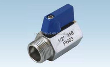 BSPT/NPT Threads so bright stainless steel mi ni ball valves