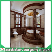 natural marble pillar wood pillar design with best quality