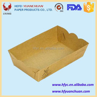 China factory Disposable kraft paper tray with PE coated food container