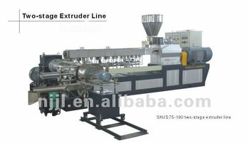high quality SHJS 75-180 two-stage extruder line